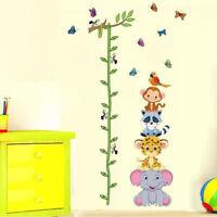 Wall sticker adesivo Metro ANIMALI misura altezza bambino parete cameretta casa