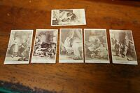 Antique Stereoview Photo cards vintage grandfather pipe sick doll anxious mother