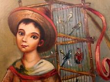 "Manuel Valezquez original ""Boy Selling Birds"" shop Studio TORNO"
