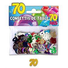 CONFFETIS DE TABLE ANNIVERSAIRE 70 ANS Multicouleur Décoration Salle 10 grammes