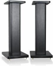 9HORN 24 inch Wood Speaker Stands in Black, 1 Pair, for Home-Cinema HiFi Bookshe