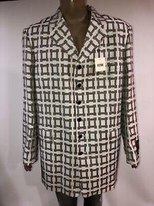 NWT RASPINI Mens Jacket Blazer MADE IN ITALY Wool 80% Viscoza 20% Size 46L/40L