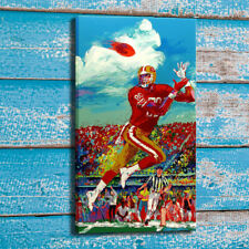 Art Painting Home Wall Decor LeRoy Neiman Jerry Rice Canvas Print 24x42