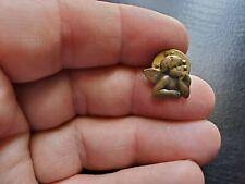 Small Cherub Pin Vintage Angel Button Pinback Lapel Pin Christianity Religious