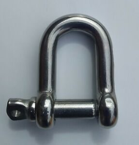 Stainless Steel D Shackles 316 Grade (pack of 6)