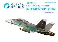 Quinta  QD48145 1/48 F/A-18B 3D-Printed & coloured interior (for Kinetic kit)