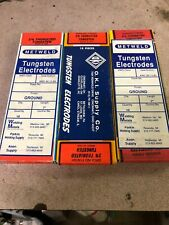 """2% Thoriated Tungsten Tig Welding Electrodes 1/8"""" X 7"""" 10 Pack Made In USA NOS"""