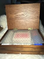 Poker Chips,2 Decks Playing Cards and Poker Dice In Wooden Case