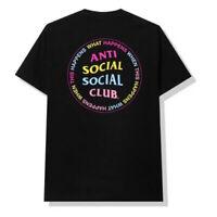Anti Social Social Club WHAT HAPPENED NEW T Shirt black Large New Members Only