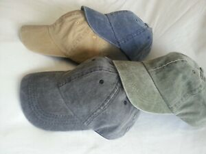 MEN'S LADIES COTTON LOW PROFILE WASHED RELAXED BASEBALL CAP SUN HAT
