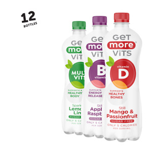 Vitamin Drink Mixed Flavours 12x1Litre by Get More Vits
