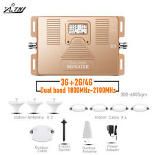ATNJ 2G 3G 4G Repeater Dual Band 1800/2100MHz Phone Signal Repeater Amplifier