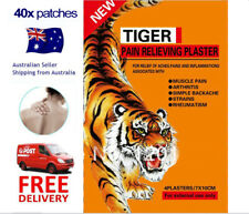 Tiger Heat Balm Pain Relief Herbal Plaster Patch - 40pcs - SALE FREE POST 7x10cm