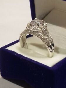Moon Star Style Wedding Band Bridal Set 1.75 Ct Gemstone /& Simulated Diamonds Round Engagement Ring 925 Sterling Silver