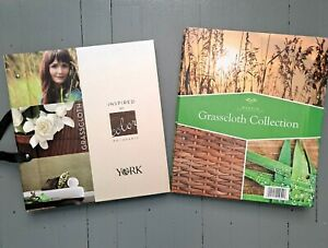 York & Warner Grasscloth Textile Wallpaper Sample Book Lot