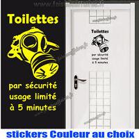 sticker autocollant wc toilette masque de protection toxic salle de bain humour