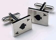 Para Hombre Ace of Spades Casino Tarjeta Gemelos & Caja De Regalo Por Onyx Art