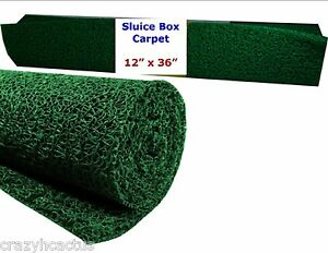 "Miners Moss 12"" x 36"" Gold Pan Panning Mining Sluice Box Matting Mat GREEN"