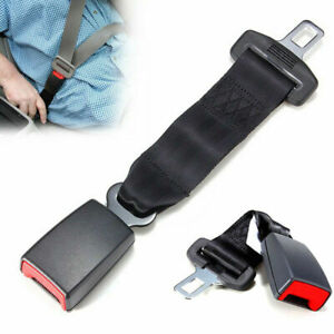 "9"" 23cm Car Seat Seatbelt Safety Belt Extender Extension Buckle Accessory Black"