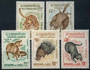 Laos 1965 SG#166-170 Air, Laotian, Fauna Wildlife MNH Set #D58570