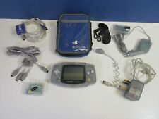 vintage NINTENDO original GBA CLEAR GAMEBOY ADVANCE HANDHELD VIDEO GAME CONSOLE