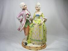 Vintage Signed Antonio Borsato Figurine Victorian Man Woman Nove Italy Colorful