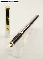 Old Slim Rotring Fountain Pen Glossy Silver – Gold with gold-plated M-nib