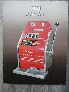 Starlet Slot Machine Flyer Original Sega Brochure