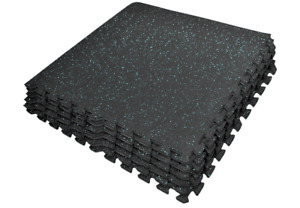 Sivan Health and Fitness Exercise Mat Tiles, High Density EVA Foam with Rubber