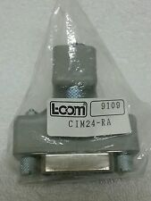 L-COM Male/Female CIM24-RA Adapter - NOS
