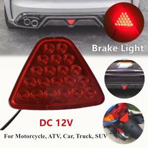 Motorcycle Car Brake Lights Tail Light Turn Signal Reverse Lamps Triangle Shape