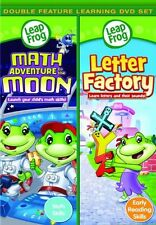 LeapFrog: Math Adventure to The Moon/Letter Factory (2010, REGION 1 DVD New)