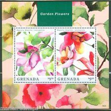 GRENADA  2014 GARDEN FLOWERS  SOUVENIR SHEET II  MINT NH