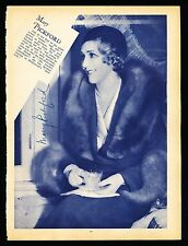 1930's MARY PICKFORD Hollywood Actress VINTAGE Signed Photo