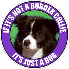"""If It'S Not A Border Collie It'S Just A Dog 4"""" Sticker"""