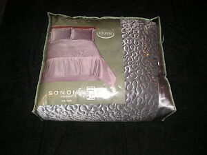 Queen 8 piece Luxury Bed Ensemble Sonoma Solid Silver Gray Grey Jasper 60% OFF