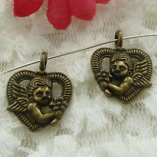 Free Ship 120 pieces bronze plated angel charms 20x16mm #597