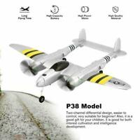 P38 2.4G RC Plane Glider Airplane Remote Control Aircraft Fixed Drone Toy W K7G9