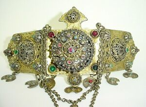 Antique Ottoman Silver Belt Buckle Ottoman Gold Wash Silver Belt Buckle