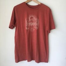 REI Men's Stewardship Tshirt Vegetable Dyed Cotton Red Large