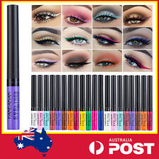 Colourful Liquid Matte Eyeliner Pen Eye Makeup Cosplay 12 Colours Waterproof AU