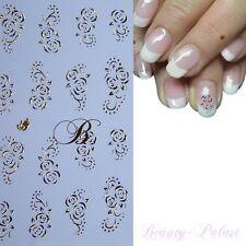 Nagel Sticker Gold Blume Nailart Tattoo Nagelaufkleber Nailsticker Gold 050
