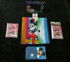 Disney set 3 photo albums+1 picture frame, tote bag, lot collection assortment