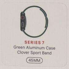 Apple Watch Series 7 45mm Green Aluminum Clover Sport Band GPS + Cellular LTE