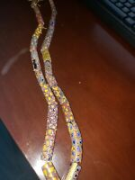 20 Antique Venetian Millefiori Mosaic Glass African Trade Beads & Necklace