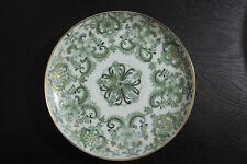 VTG Gold Gilded Green White Porcelain Japanese Saucer Plates 4 Pc 6 Inch Japan