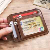 Mini Coin Purse Men Wallet Soft Short Pocket Photo Leather Business Card Holder