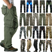 Mens Army Military Combat Trousers Airsoft Tactical Workwear Cargo Camo Pants