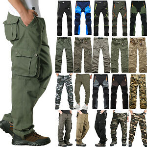Men's Tactical Army Combat Military Cargo Multi Pockets Pants Trousers Bottoms