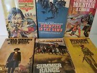 Lot of 6 Vintage Western Paperbacks Various Authors pulp mass market w2